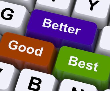 Good Better Best Keys Represent Ratings And Improvement